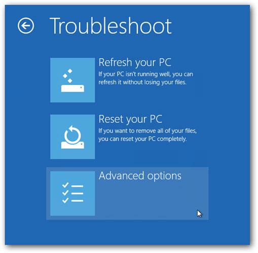 Arriver à entrer en mode sans échec dans Windows 10 étape 3