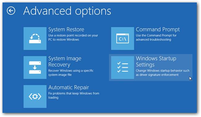 Arriver à entrer en mode sans échec dans Windows 10 étape 4