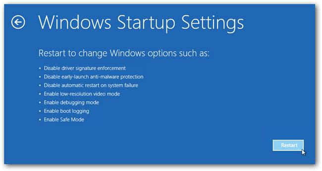 Arriver à entrer en mode sans échec dans Windows 10 étape 5