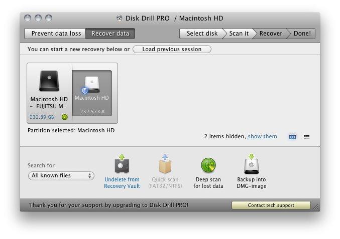 Disk Drill para Recuperar Arquivos Formatados desde USB em Mac
