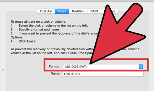 format external hard drive on mac