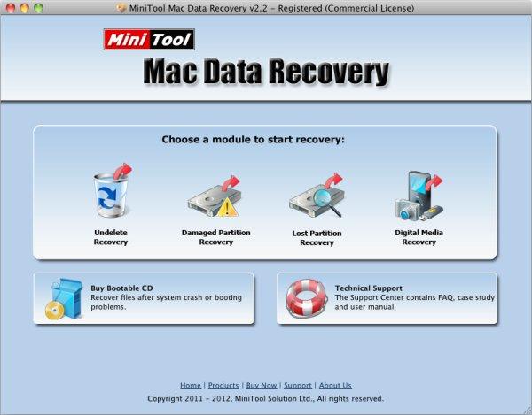 MiniTool um formatierte Dateien von USB auf Mac wiederherzustellen