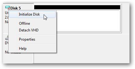 créer un disque dur virtuel étape 4