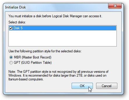 créer un disque dur virtuel étape 5