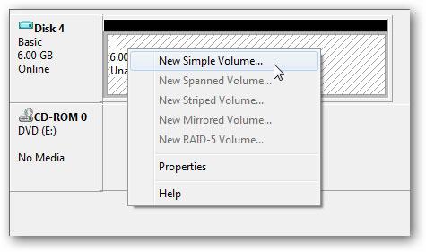 créer un disque dur virtuel étape 6