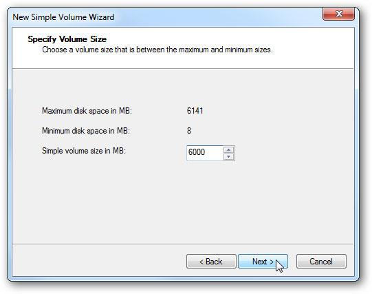 créer un disque dur virtuel étape 8