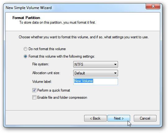 créer un disque dur virtuel étape 10