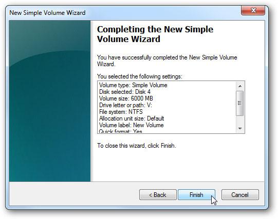 créer un disque dur virtuel étape 11