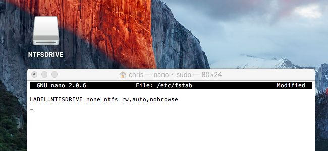 escribe en NTFS drive en mac paso 7