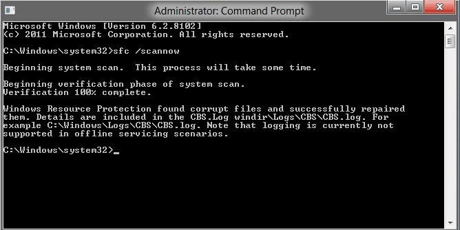 vérificateur de fichier système