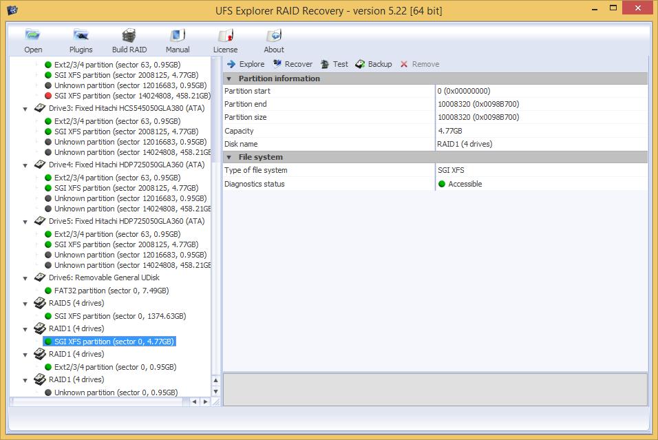 UFS Explorer RAID Recovery