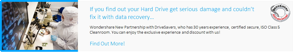 Data recovery service-Wondershare New partnership with DriveSavers
