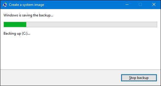 sistema de respaldo de imagen en Windows 7
