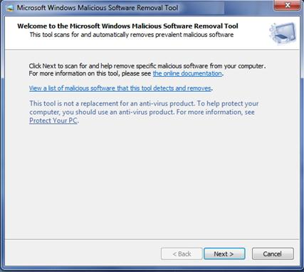 install tool to delete malwares and viruses from your computer
