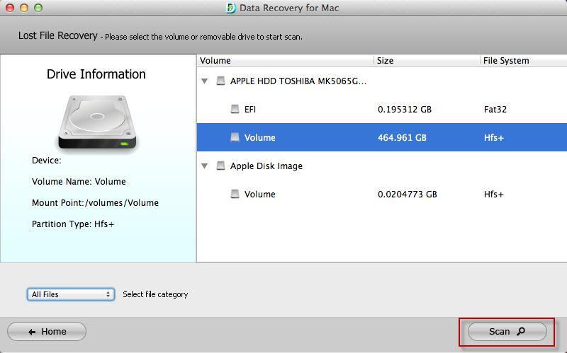 Datenwiederherstellung für Mac-Tenorshare data recovery for Mac