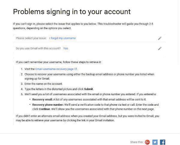 Recuperar la cuenta de correo de google