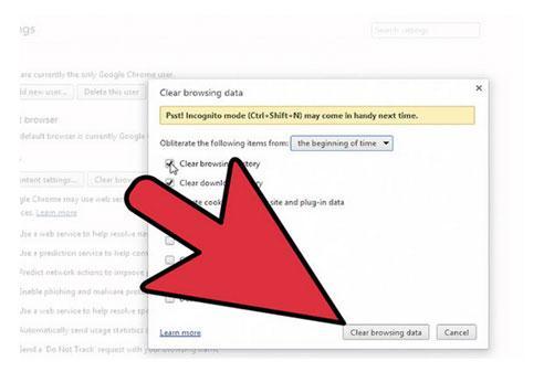 elimina el historial de busqueda de Google