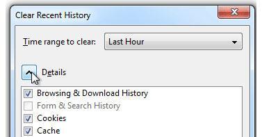 elimina historial de navegación de Firefox