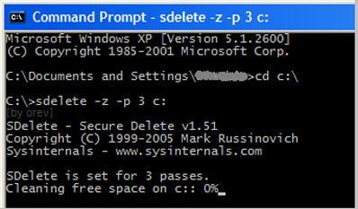 Usar SDelete para eliminar archivos permanentemente
