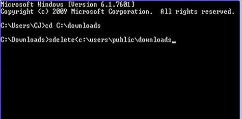 Mostrar el archivo o directorio que será eliminado permanentemente