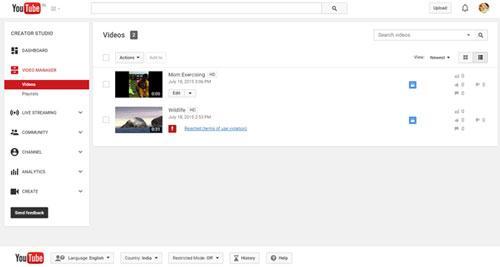 desde el ordenador eliminar vídeos y canales de youtube