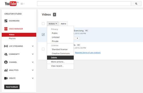 cómo eliminar vídeos y canales de youtube