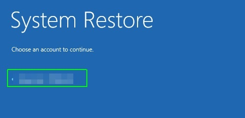 repair Windows 10 with restore point