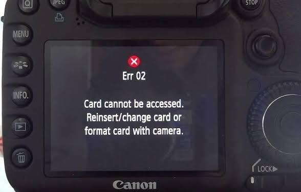 Erreur 02 de Canon