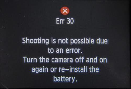 Erro 30 Canon