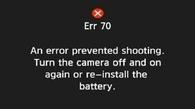 Erreur 70 de Canon