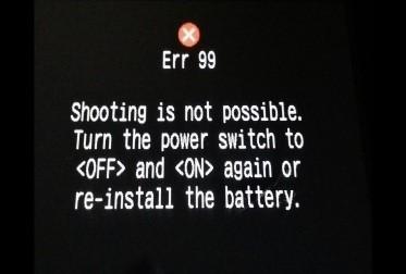 Erro 99 Canon