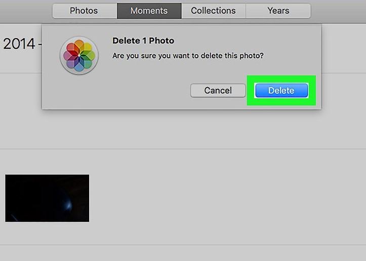 finish deleting photos on Mac