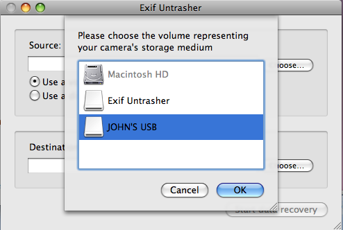 Exif Untrasher mac free recovery