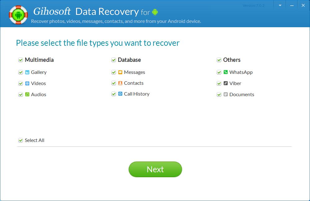 gihosoft recuperación de datos android gratis