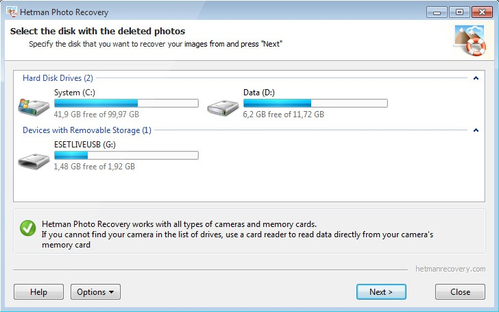 application Hetman Photo Recovery