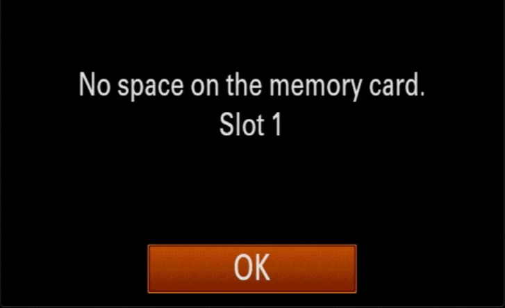 full memory card