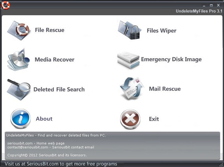 UndeleteMyFiles Pro easy recovery software