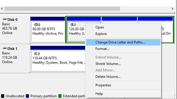 Disk Management for USB