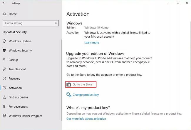 upgrade windows 10 to pro without key