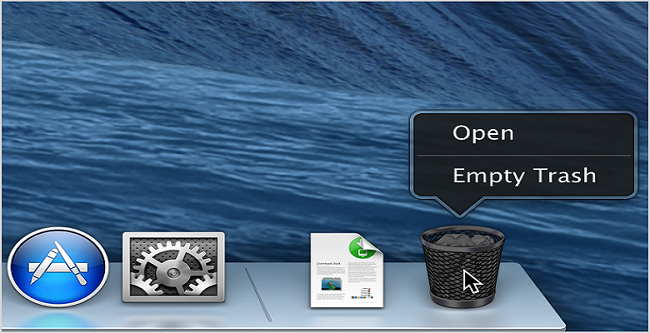 how to empty trash on mac securely
