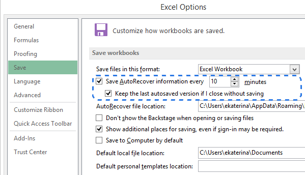 recover unsaved excel files on mac
