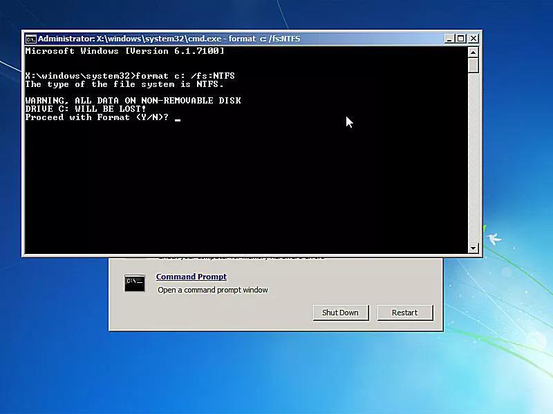 Windows 10 Format C