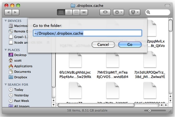 dropbox-cache-clear