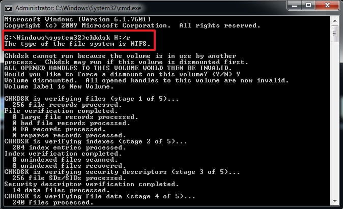 recover data from pen drive using CMD