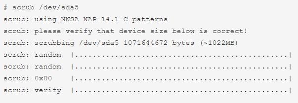 scrub-command-linux