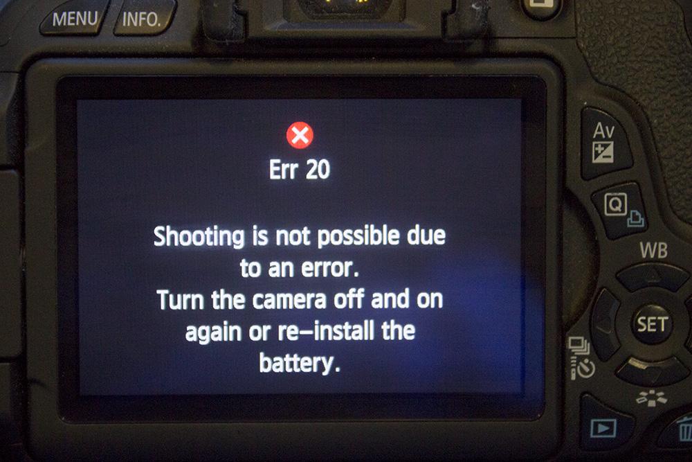 camera problem - shutter error