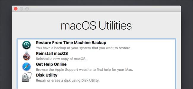 disk utility in macOS utilities