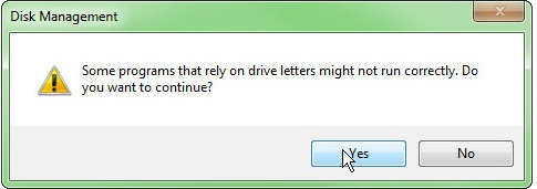 a confirmation message