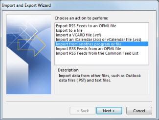 lost folder outlook 11