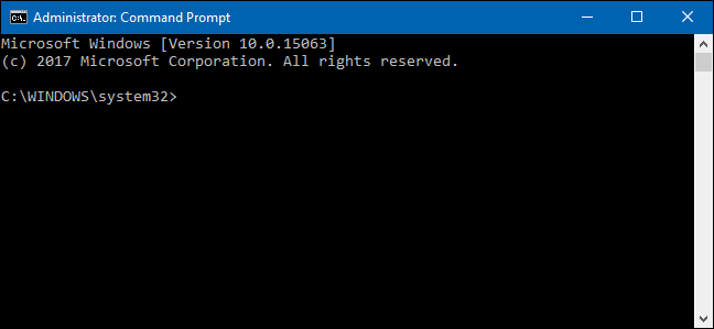 type in command prompt